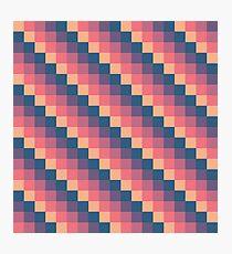Descending Square Pattern Photographic Print
