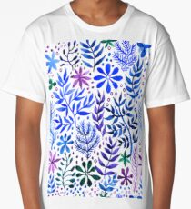 Decorative seamless floral abstract background  watercolor Long T-Shirt