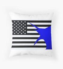 US Blue marlin Throw Pillow