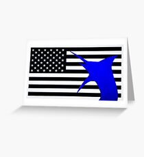 US Blue marlin Greeting Card