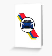 Renault Clio Sport 197 Flag / Front Greeting Card