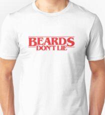 Funny Beard Shirt Beards Don't Lie T-Shirt for Bearded Geeks Unisex T-Shirt