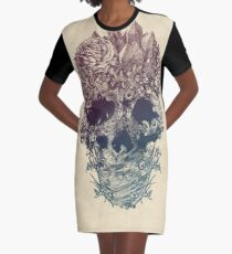 Skull Floral Graphic T-Shirt Dress