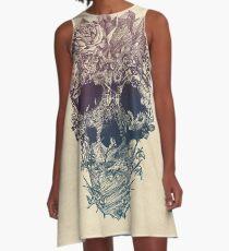 Skull Floral A-Line Dress