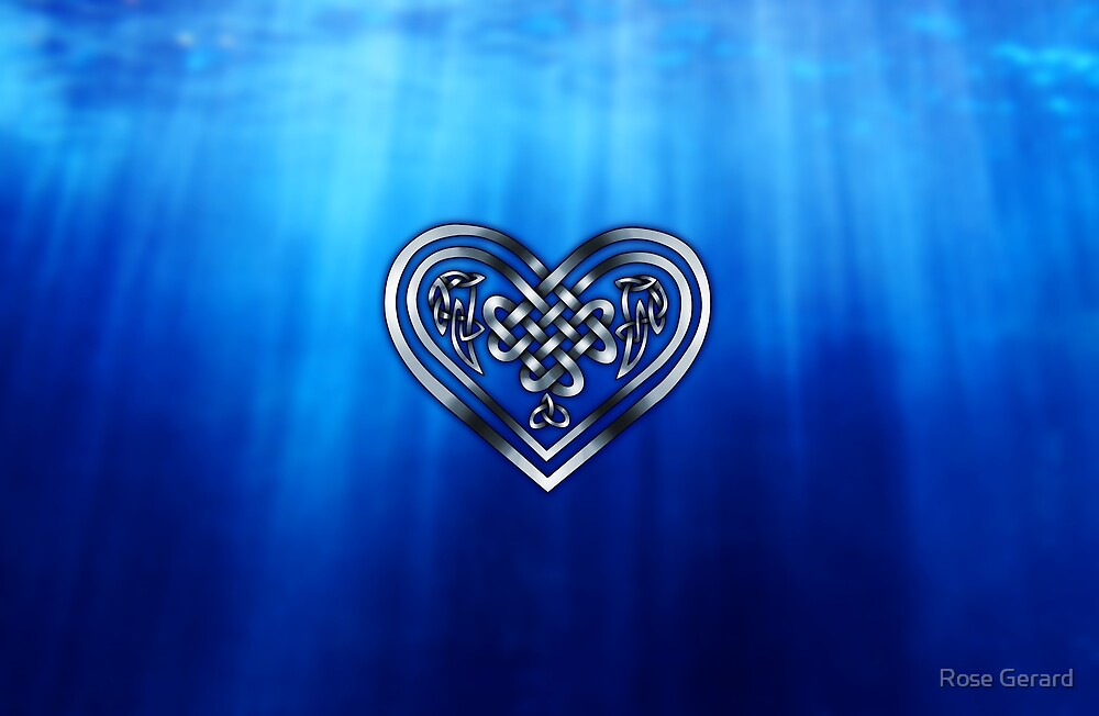 Celtic Heart - Deep Blue Sea by Rose Gerard
