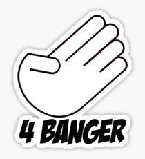 4 Banger Decal (White) Sticker