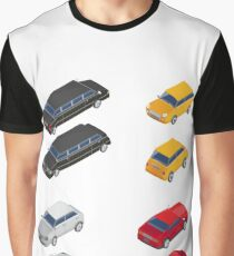 Isometric Transportation. Limousine Car. Sport Car. City Car.  Graphic T-Shirt