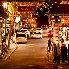 Entrance to Chinatown in San Francisco at Night by Buckwhite