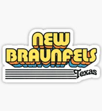 New Braunfels, Texas   Retro Stripes Sticker
