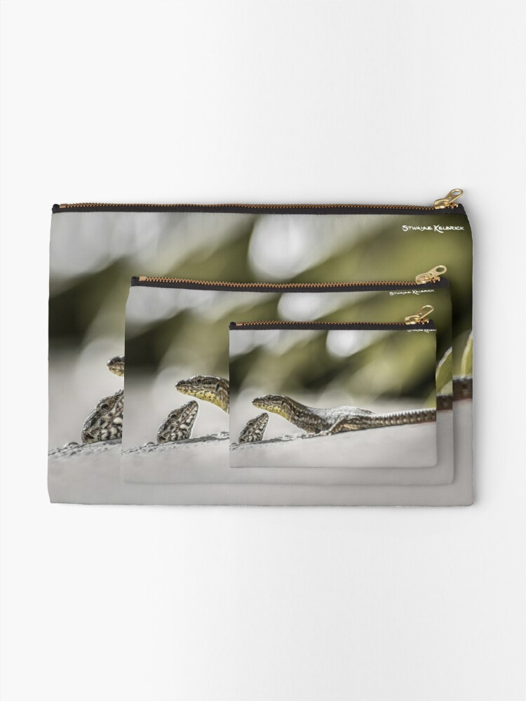 Alternate view of The charming lizards Zipper Pouch
