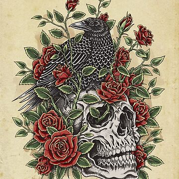 Floral Skull by HINKLE