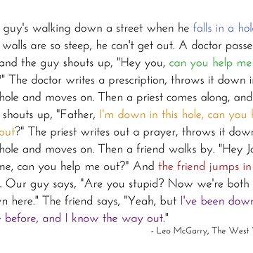 Leo McGarry's Guy Falls in a Hole Speech by littlemamajama