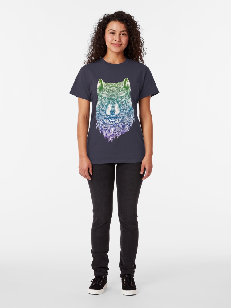 Alternate view of Abstract Wolf Classic T-Shirt