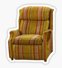 Martin Crane's chair. Sticker