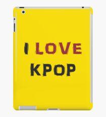 I LOVE KPOP - YELLOW iPad Case/Skin