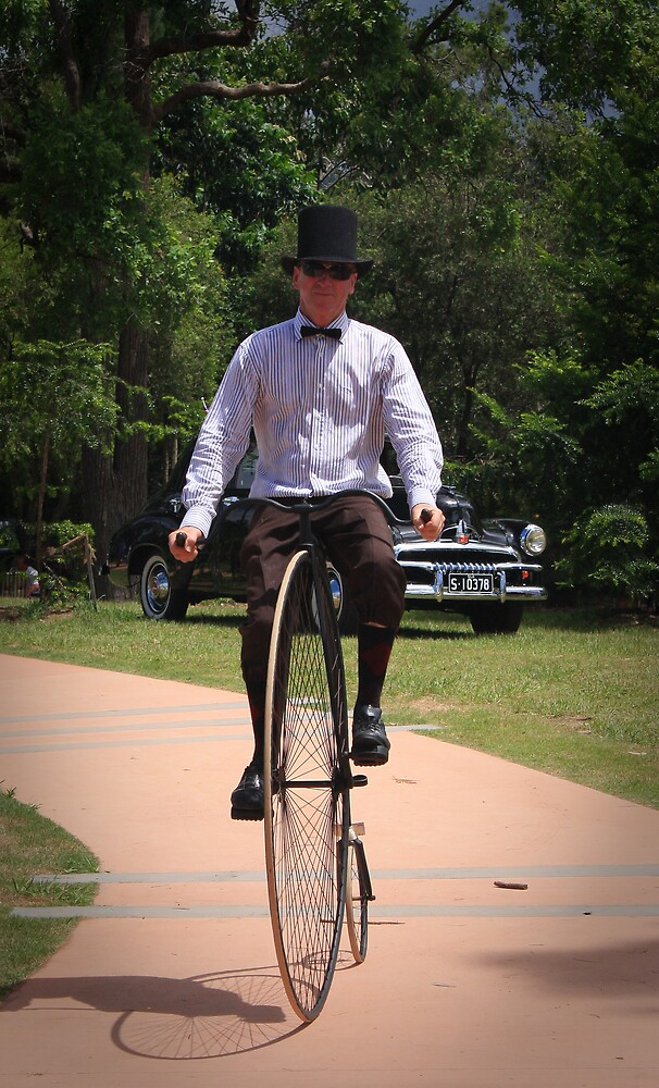 penny farthing man by oozeart