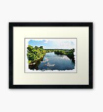The River Finn watercolour Framed Print