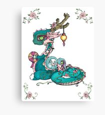 Rose Dragons Canvas Print