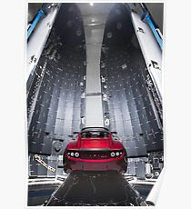 SpaceX Falcon Heavy Roadster (8K Auflösung) Poster