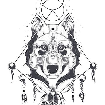 Wolf Sacred Geometry Shirt by sakharoth