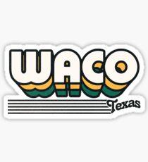 Waco, Texas   Retro Stripes Sticker