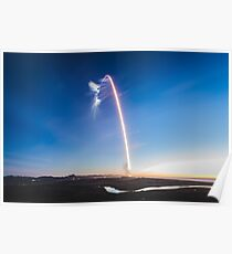 SpaceX Iridium-4 Mission Langzeitbelichtung (8K-Auflösung) Poster
