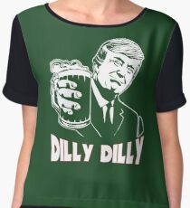 Donald Trump Bud Light Official Dilly Dilly T-Shirt Patrick's Day Gift Tess Chiffon Top