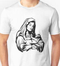 Camiseta unisex Virgin Mary and Child-3