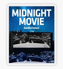 Midnight Movie: Double Feature Transparent Sticker