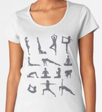 Yoga Poses and Postures Women's Premium T-Shirt