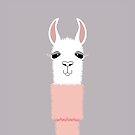 LLAMA IN PINK TURTLENECK SWEATER unsigned by Jean Gregory  Evans
