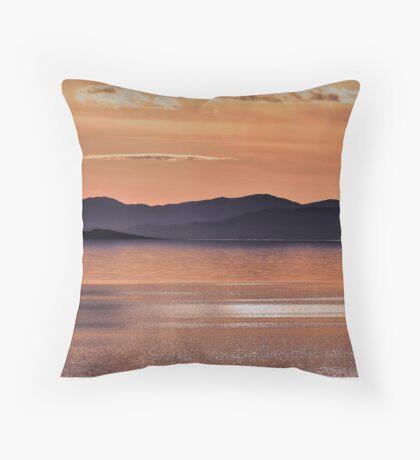 Sunset at The Great Salt Lake II Throw Pillow