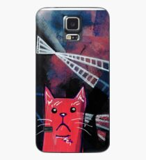 Abstract Cat Painting - Catscape - Metropolis Case/Skin for Samsung Galaxy