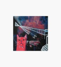 Abstract Cat Painting - Catscape - Metropolis Art Board