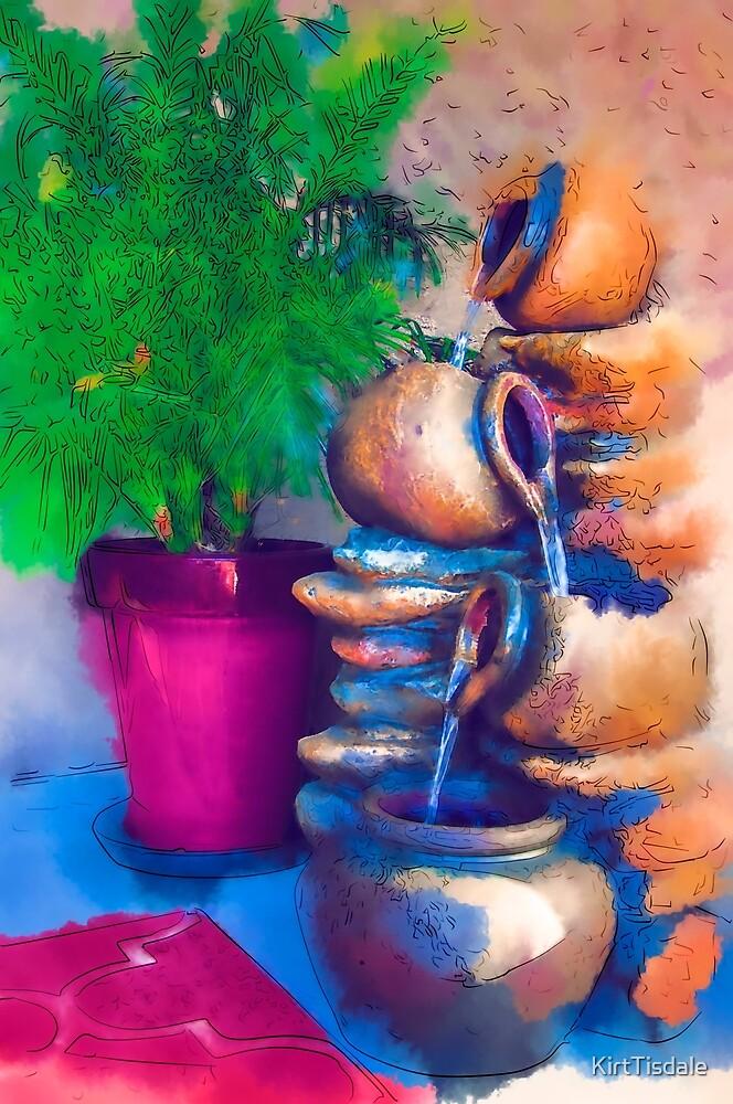Garden Fountain by KirtTisdale