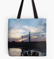 Bird Clouds at Sunset Tote Bag