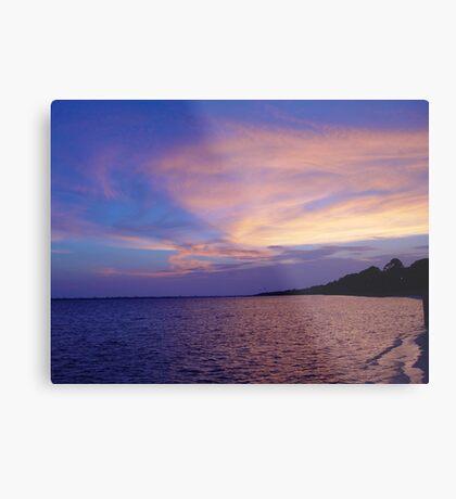 Sunset on St. Andrews Bay Metal Print
