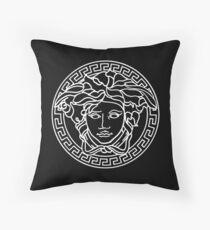 MEDUSA HEAD // LUXURY BLACK AND WHITE Throw Pillow
