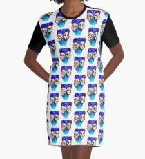 purple hair Graphic T-Shirt Dress