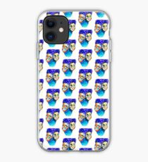 purple hair iPhone Case