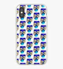 purple hair iPhone Case