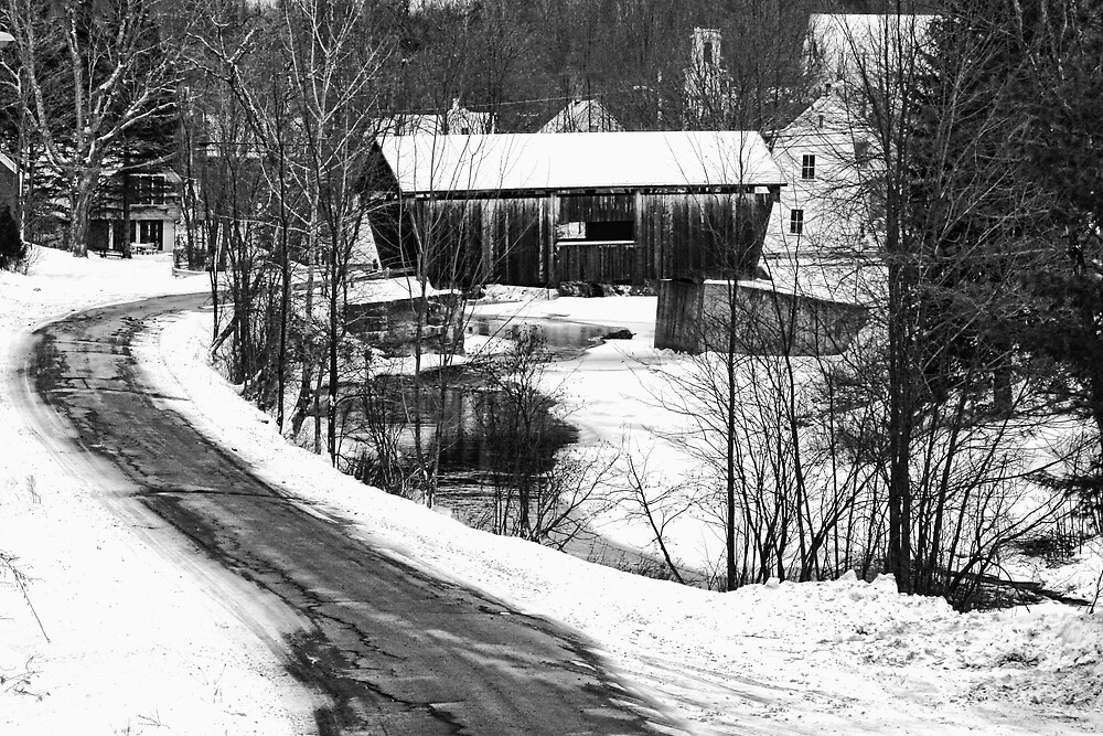 Warren Covered Bridge in Vermont by Patricia Montgomery