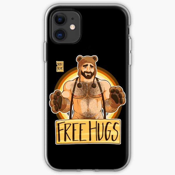 ADAM LIKES HUGS - BEAR PRIDE iPhone Soft Case