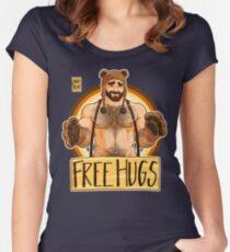 ADAM LIKES HUGS - BEAR PRIDE Women's Fitted Scoop T-Shirt