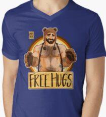 ADAM LIKES HUGS - BEAR PRIDE Men's V-Neck T-Shirt