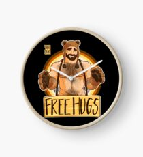 ADAM LIKES HUGS - BEAR PRIDE Clock