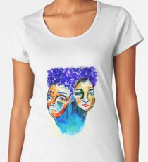 purple hair Premium Scoop T-Shirt
