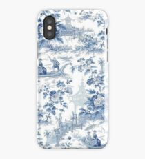 Powder Blue Chinoiserie Toile iPhone Case/Skin