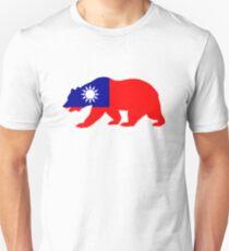 Flag Black Bear of Taiwan Slim Fit T-Shirt