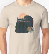 Pines Mountains and Flowers Unisex T-Shirt